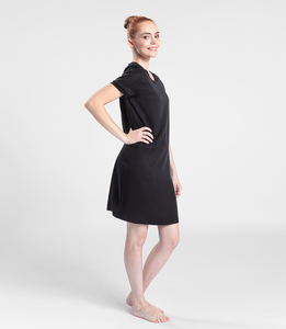 Kleid aus Tencel - Black Diamant  - LASALINA