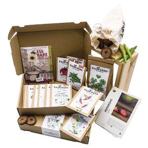 """Bio-Saatgut-Set für das ganze Jahr - Jahresbox """"Gartenjahr"""" - Rankwerk"""