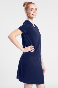 Kleid aus Tencel - Black Diamant  - LASALINA