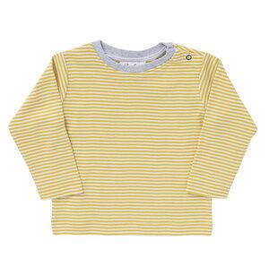 Baby u. Kinder Langarmshirt senfgelb geringelt Bio People Wear Organic - People Wear Organic