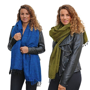 Pina - breiter Schal /Schaltuch aus Nepal - viele Uni-Farben - MoreThanHip