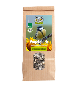 Vogel Futter aus Bio-Anbau / Sonnenblumenkerne pur 500g  - ARIES