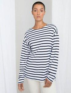 Damen / Herren Unisex Langarm Shirt Striped - Mantis
