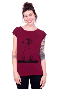 "Bio-Fairtrade-Frauenshirt ""Wilder Fenchel"" - Hirschkind"