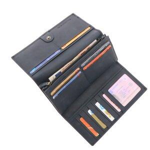 Damen Portemonnaie Brieftasche Ökoleder - Derby - graublau - MoreThanHip