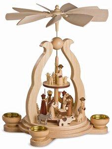Bogenpyramide Christi Geburt NEU für Teelichter und Pyramidenkerzen  - Müller Seiffen