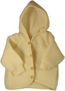Engel Babybekleidung, Baby - Kapuzenjacke aus reiner Merino Schurwolle - Engel natur