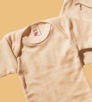Engel Babybekleidung, Baby - Body langarmig, aus Wolle und Seide, Natur - Engel natur
