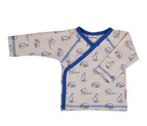 Wickelshirt langarm mit Katzenmotiv - Baba Babywear