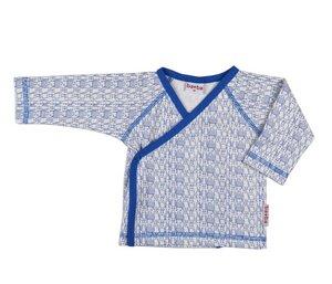 Wickelshirt langarm mit Robotermotiv - Baba Babywear