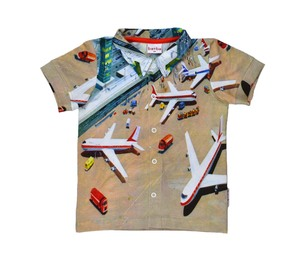 Poloshirt kurzarm mit Flughafenmotiv - Baba Babywear