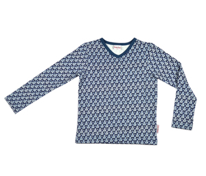Langarmshirt mit V-Ausschnitt und Gitarrenmotiv - Baba Babywear