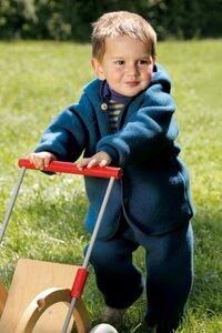 Engel Babybekleidung, Baby - Hose lang, aus aus reiner Schurwolle, verarbeitet zu Schurwoll-Fleece - Engel natur