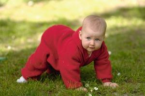 Baby-Overall aus reiner Schurwolle, verarbeitet zu Woll-Fleece - Engel natur