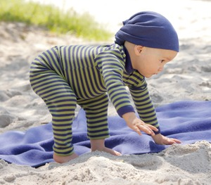 Engel Babybekleidung, Baby-Leggins aus Wolle/Seide - Engel natur