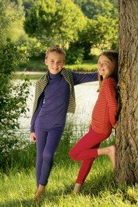 Engel Naturtextilien, Kinder Unterhemd langarmig aus Wolle/Seide - Engel natur