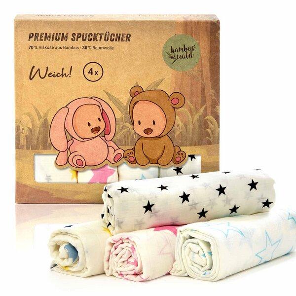 Set: Puppendecke /& Kissen aus 100 /% Baumwolle Stoff mit Unterlage Bettwä