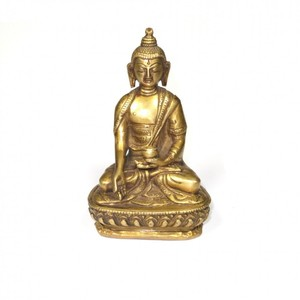 Messing Buddha Figur mit Mudra - Just Be