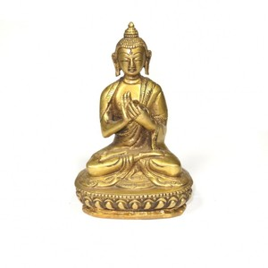 Messing Buddha Figur mit Mudra - Just Be