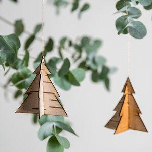 Baum / Weihnachtsanhänger aus echter sibirischer Birkenrinde - MOYA Birch Bark