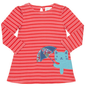 Kite Baby und Kinder Langarm-Kleid Kitty Cat - Kite Clothing