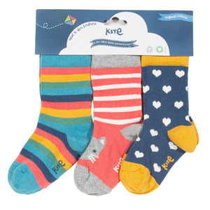 Kite Baby und Kinder Socken  Kitty Cat 3er-Pack - Kite Clothing