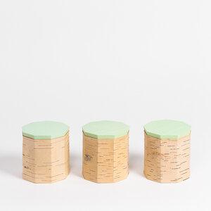 Kaffeedosen-Set / 3 Vorratsdosen aus Birkenrinde - T9: ø12x12cm - MOYA Birch Bark