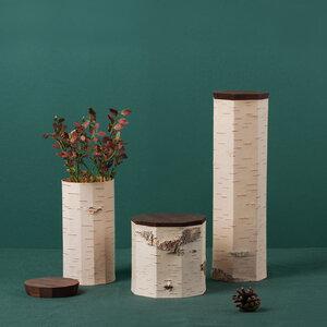 3er Set / Vorratsdosen aus Birkenrinde - unterschiedliche Größen - MOYA Birch Bark