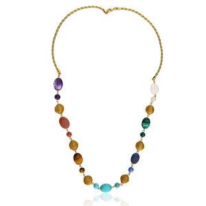 Halskette Petra Bio aus Golden Grass - Aline Celi