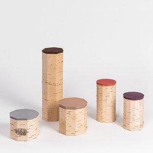 5er Set / Vorratsdosen aus Birkenrinde - unterschiedliche Größen - MOYA Birch Bark