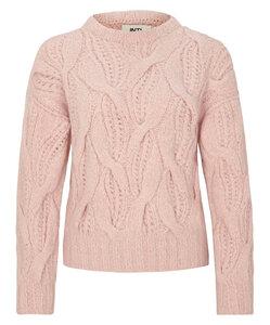 Pullover mit Zopfmuster handgestrickt aus Baby-Alpaka - INTI Knitwear