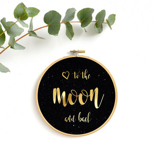 I love you to the moon and back, Golddruck - renna deluxe