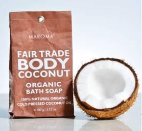 Maroma Körperseife Bio-Kokosbutter mit Minzduft - MAROMA