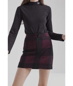 Short Skirt Wine Checks - thinking mu
