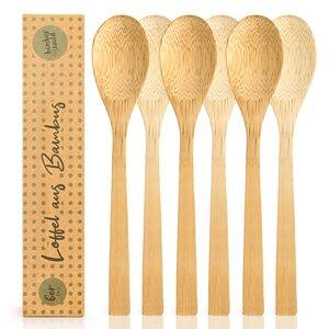 3er / 6er Set Löffel / Esslöffel aus Bambus - ökogisch & plastikfrei  - Bambuswald