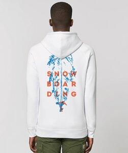 Hoodie ohne Kängurutasche mit Motiv / Ski Run - Kultgut