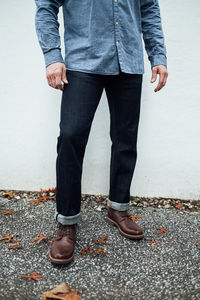 Selvedge Jeans Regular Straight - Oak raw blue  - KnowledgeCotton Apparel