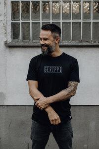 """T-Shirt """"GERIPPT"""" aus Bio-Baumwolle in schwarz - ALMA -Faire Streetwear & Schmuck-"""
