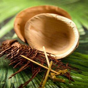 Palmen-Schiffchen - 25 Stück - Schalen Dip Saucen Schälchen - Palmenwald