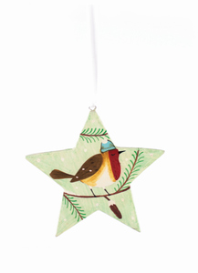 Weihnachtsdeko in Sternform Vögelchen - El Puente