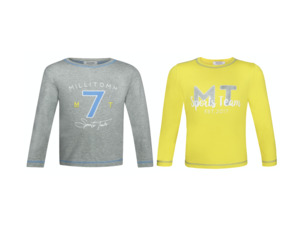 Kombi-Pack 2 Langarmshirts (in gelb und grau) - MilliTomm