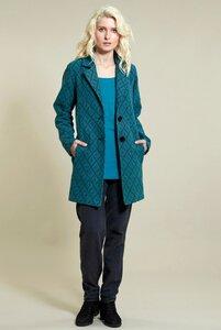 Aztec Short Coat - Pacific Blue - Nomads Fair Trade Fashion