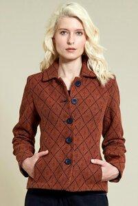 Aztec Handloom Jacket - Sienna - Nomads Fair Trade Fashion