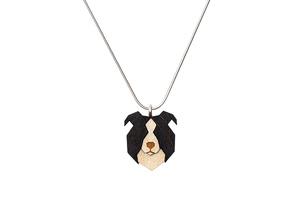 Halskette Border Collie  - BeWooden