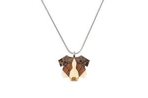 Halskette Australian Shepherd  - BeWooden