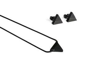 Ohrringe & Kette mit Anhänger aus Holz - schwarz - Nox Set - BeWooden