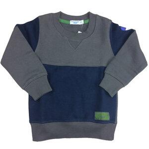 Jungen Sweater grau-blau - Cotton People Organic