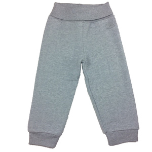 Baby Sweat-Hose mit Dehnbund grau - Cotton People Organic