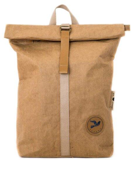 Rucksack aus Papier, robust, wasserfest Damen Herren vegan Rolltop Neu
