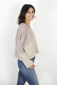Pullover CREA aus grob gestricktem Hanf mit Farbverlauf - erie Berlin